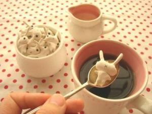Bunny shaped sugar lumps