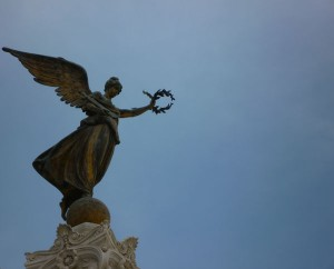 A statue in Rome... They're big on angels and pointing!