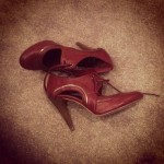 Day 19: On the floor. Waltzing around in heels all day long leaves my feet longing for some G&T. When those shoes hit the floor, everybody sighs in relief.