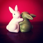 Day 23: a pair. I love bunnies. This should, by now, be obvious. Thank you for these, Claire.