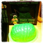 Oh yeah! My zombie addiction got fed when hubby rocked up with this epic brain mould...